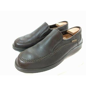 Mephisto Mens Air Jet Brown Pebble Loafers 10